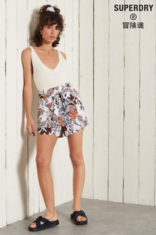 Superdry Printed Paperbag Waist Shorts