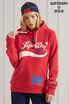 Superdry Red Collegiate Cali Graphic Hoody