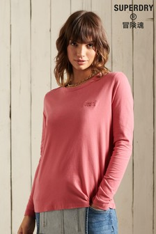 Superdry Pink Classic Long Sleeve Top