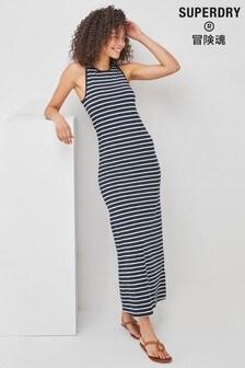 Superdry Stripe Jersey Maxi Dress