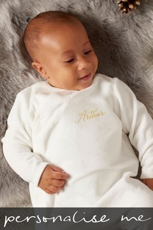 Personalised Name Embroidered Sleepsuit