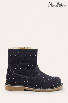 Boden Blue Cosy Short Leather Boots