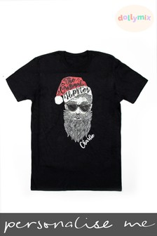 Personalised Christmas Hipster T-Shirt by Dollymix