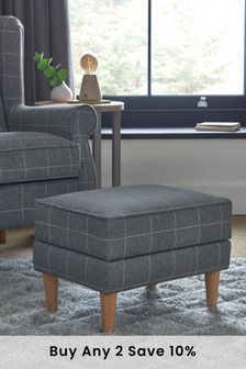 Sherlock II Storage Footstool With Light Legs