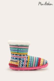 Boden Multi Knitted Slipper Boots