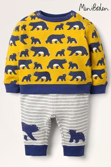 Boden Yellow Cosy Sweatshirt And Bottoms Set