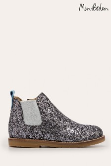 Boden Metallic Leather Chelsea Boots