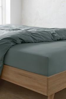 Washed Organic Cotton Deep Deep Fitted Fitted Sheet
