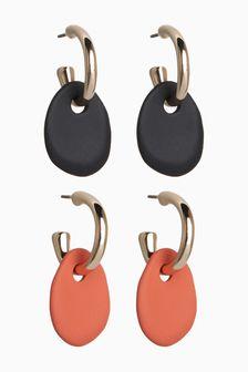 Matte Coated Mini Drop Earrings