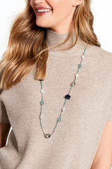Resin Beaded Long Necklace