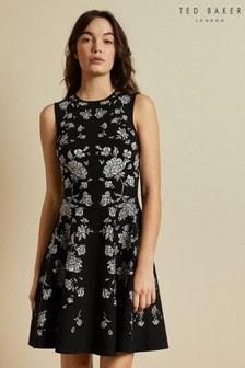 Ted Baker Naomyy Rhubarb Jacquard Knitted Dress