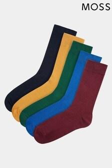 Moss 1851 Multi Cotton Blend Socks 5 Pack