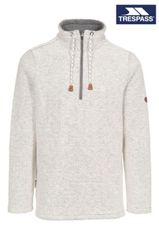 Trespass White Falmouthfloss Male Casual Sweater