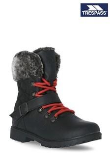 Trespass Black Lynan Cosy Boots