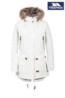 Trespass White Clea B Female Jacket