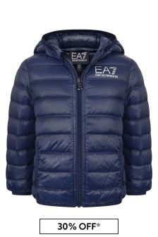 Boys Navy Lightweight Down Padded Jacket