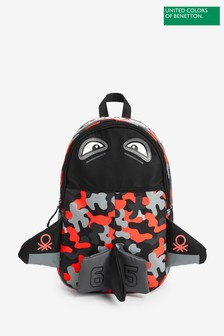 Benetton Camouflage Shark Backpack