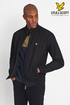 Lyle & Scott Black Harrington Jacket