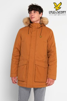 Lyle & Scott Caramel Winter Weight Microfleece Lined Parka