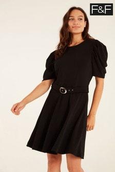 F&F Black Belted Dress