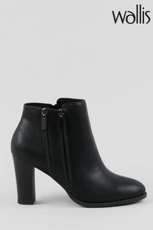 Wallis Asuma Black Double Zip Ankle Boots