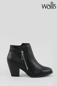 Wallis Arabella Black Side Zip Ankle Boots