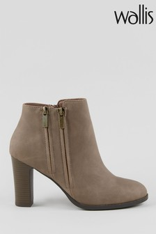 Wallis Asuma Taupe Double Zip Ankle Boots