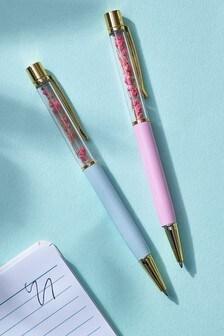 Set of 2 Floral Pens
