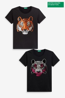 Benetton Tiger Sequin T-Shirt