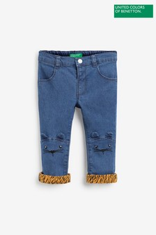 Benetton Denim Cat Patch Jeans