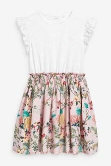 Hummingbird Print Dress (3-12yrs)