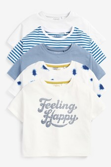 5 Pack Feeling Happy T-Shirts (3-16yrs)