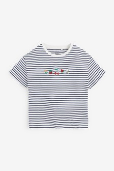Embroidered Stripe T-Shirt (3-16yrs)