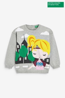Benetton Printed Graphic Sweater