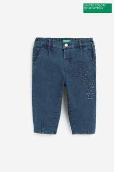 Benetton Star Embroidered Jeans