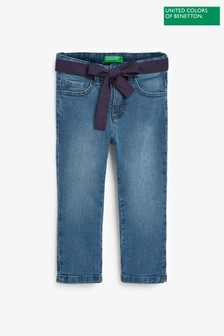 Benetton Denim Navy Tie Jeans