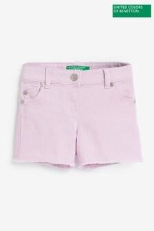 Benetton Purple Denim Shorts