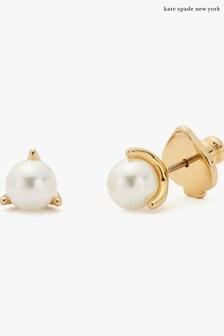 kate spade new york Pearl Mini Trio Prong Stud Earrings