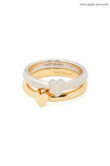 kate spade new york 2 Tone Heartful Double Rings