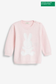 Benetton Pink Bunny Jumper