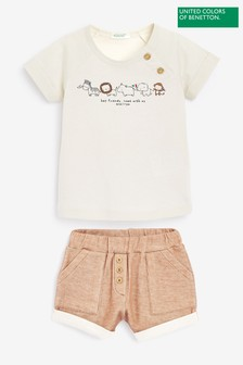 United Colours Of Benetton Two Piece Shorts Set