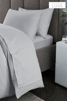 300 Thread Count Collection Luxe 100% Cotton Sateen Flat Sheet
