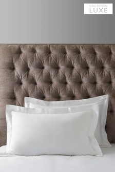Set of 2 White 300 Thread Count Collection Luxe 100% Cotton Pillowcases