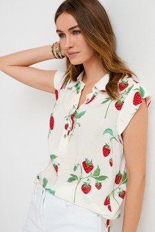 Sleeveless Collar Shirt