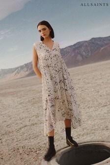 AllSaints White Karian Yermo Print Dress