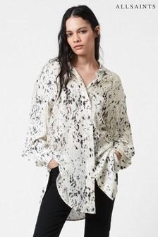 AllSaints White Ecry Eleanor Yermo Print Shirt