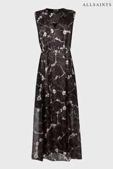 AllSaints Black Karian Hope Print Dress