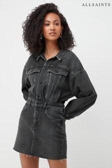 AllSaints Black Wash Dakota Denim Dress