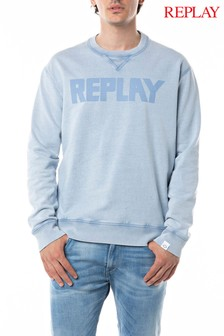 Replay® Periwinkle Logo Sweater