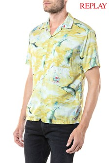 Replay® Yellow Printed Shirt